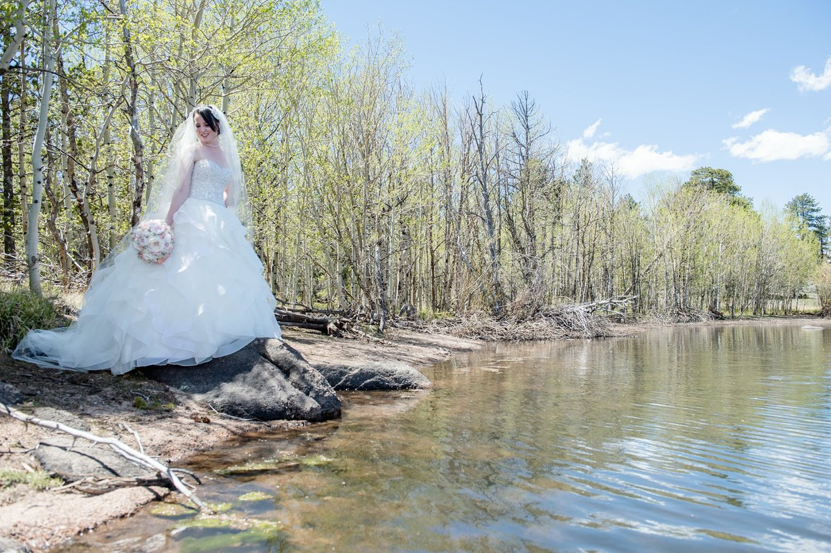 Spring Wedding Beaver Meadows, Red Feather CO-209