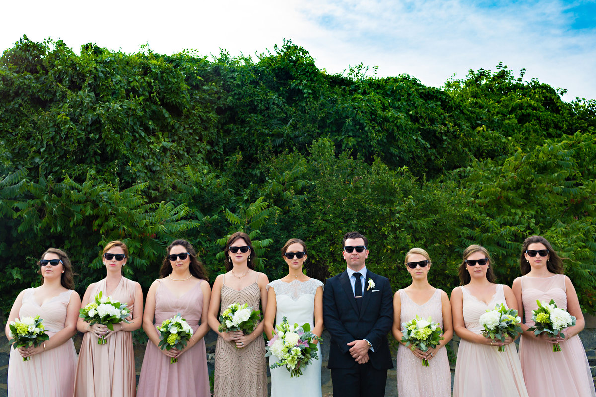Portland Maine Wedding Photographers Cape Elizabeth Bridal Party