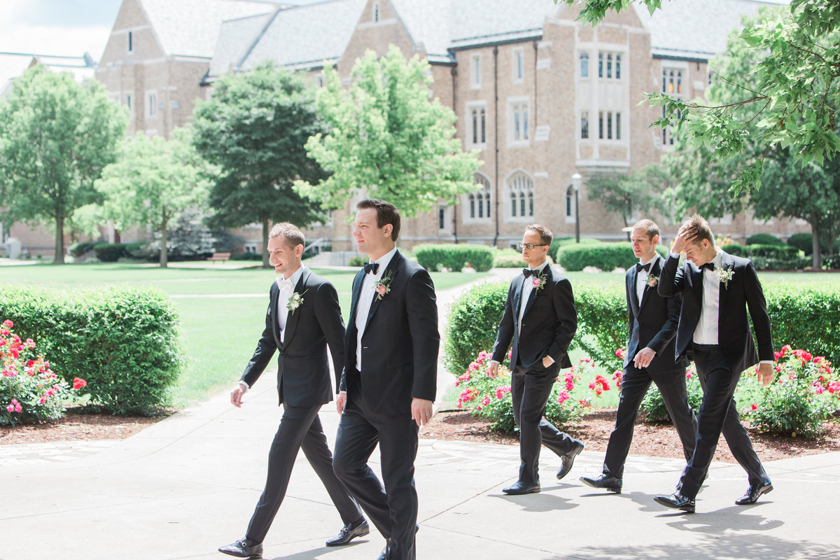 Basilica of the Sacred Heart Groomsmen Photo