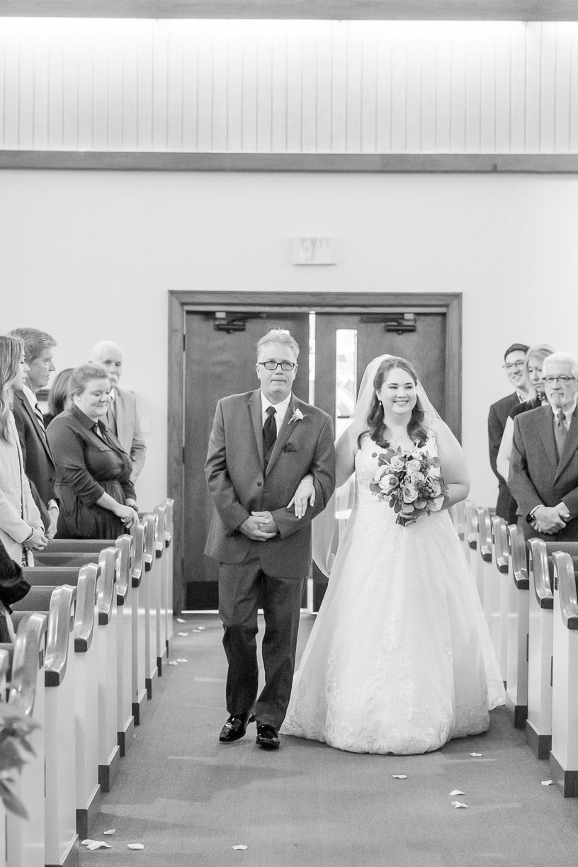 bride walked down the aisle by her father | toni goodie photography