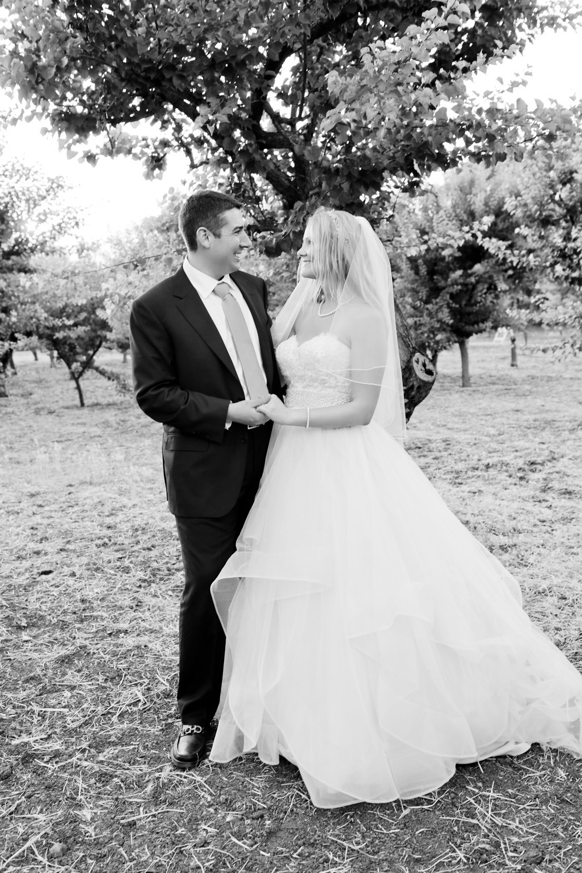 First look bride and groom in black and white, couple love, california wedding photographer los altos