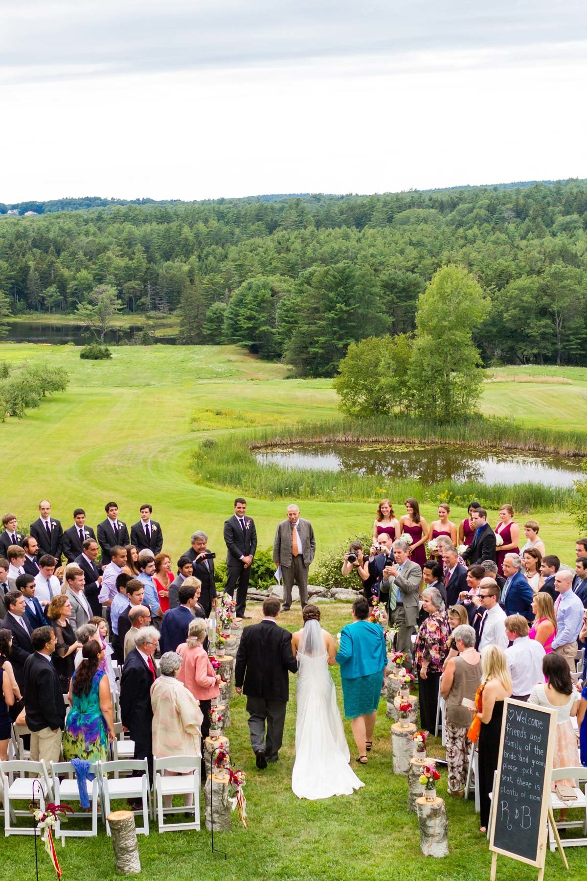 Clarks Cove Farm Maine Wedding Photographers Boothbay Harbor Outdoor Ceremony Image I am Sarah V Photography