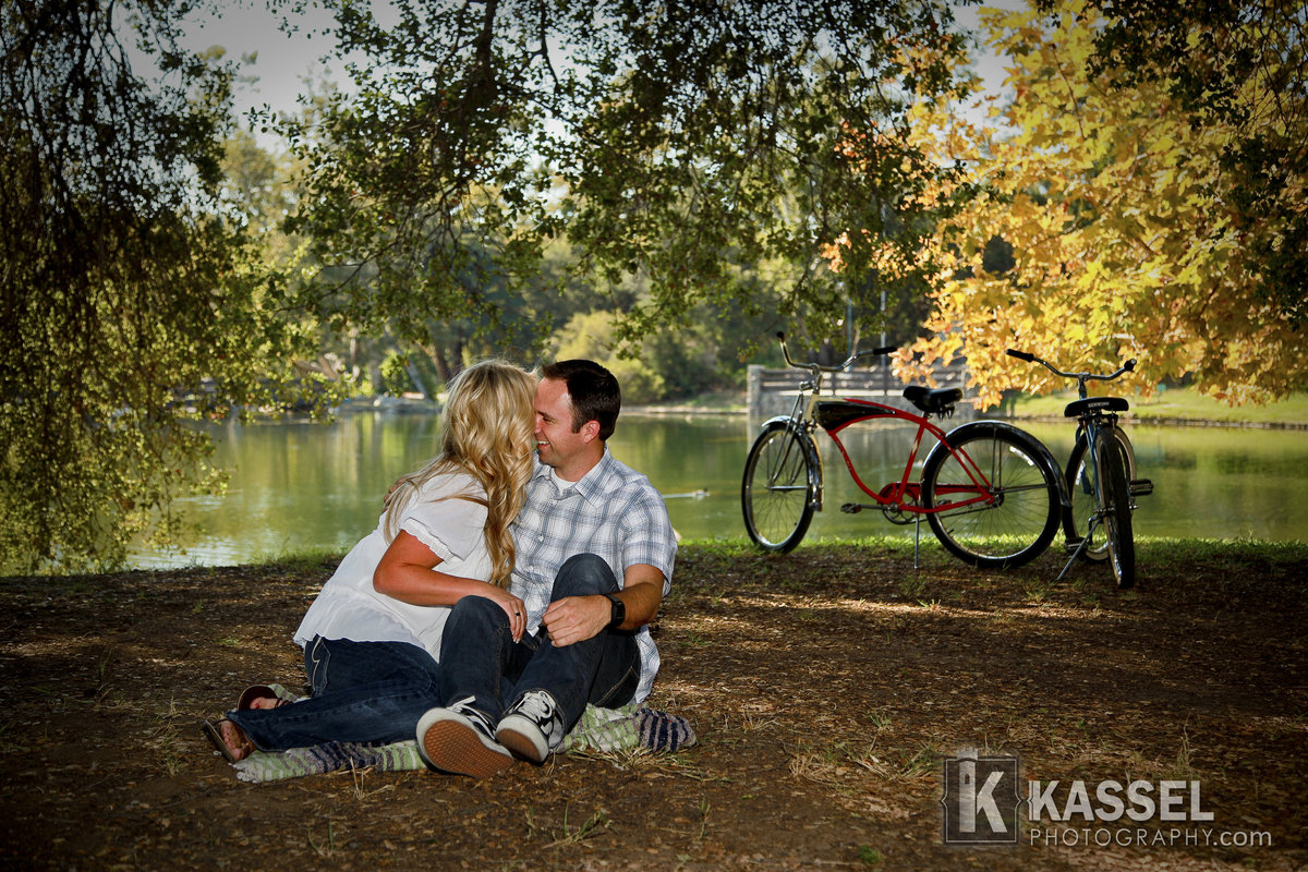 Irvine park is the perfect engagement session location. Lots of great options and lakes and huge beautiful 100 year old trees.