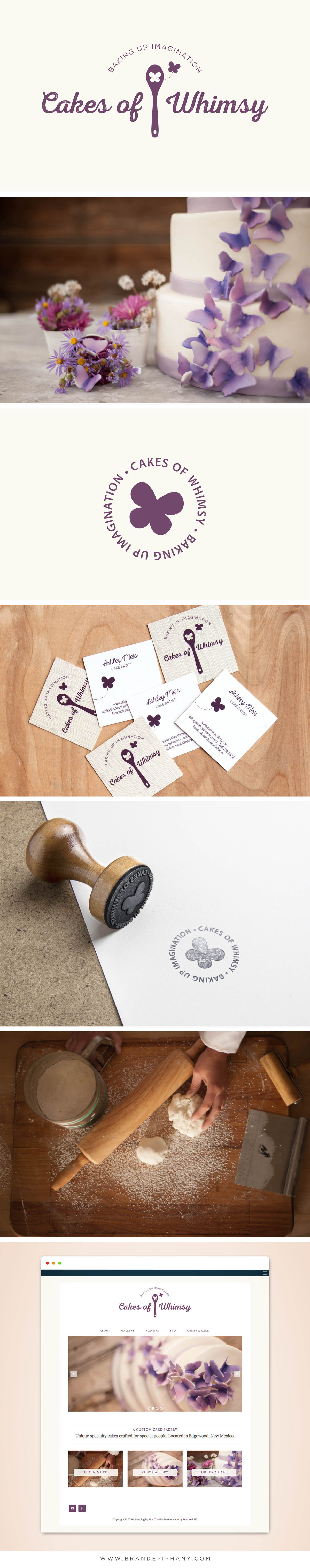 Logo Design, Business Card Design, Website Design for Cake Bakery