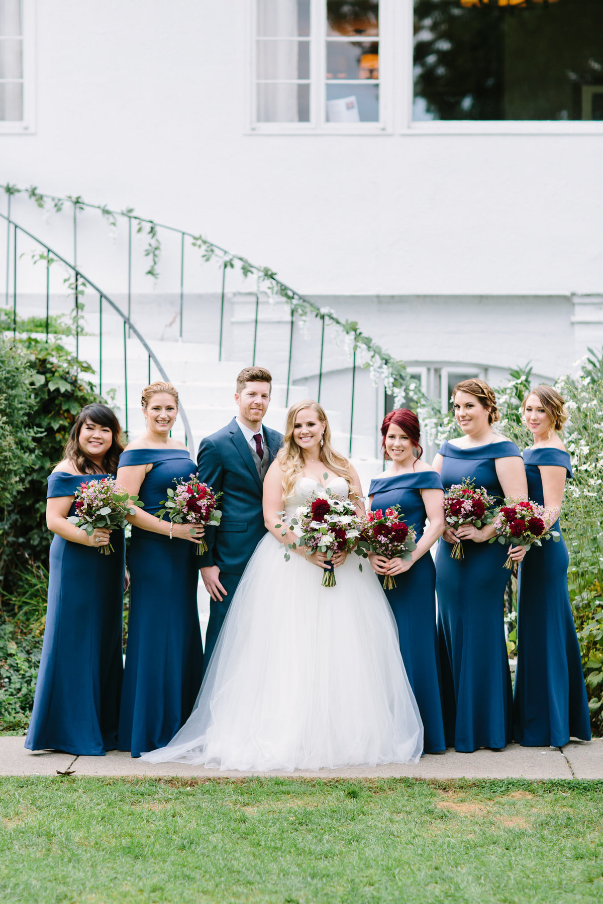 Bridal party at the Crabtree Kittle House wedding