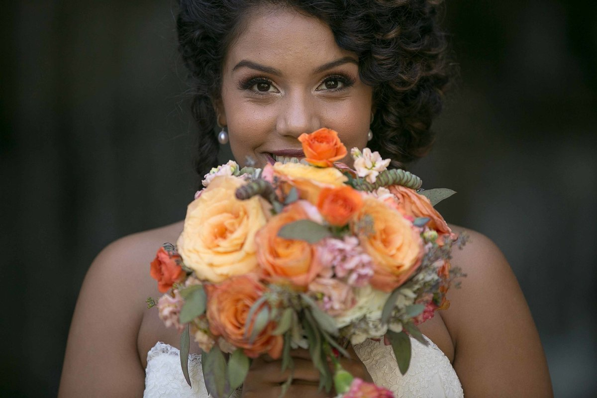 Bride with her Flower Bouquet