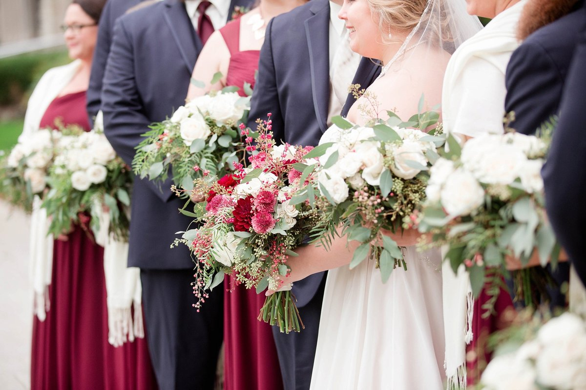 Burgundy and Rose Gold Fall Holland Garden Wedding with by Toledo and Detroit Based Wedding Photographers Kent & Stephanie Photography_1109