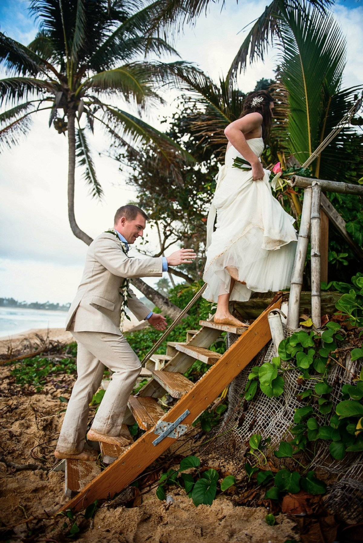Sunset Beach Oahu Hawaii Wedding_104