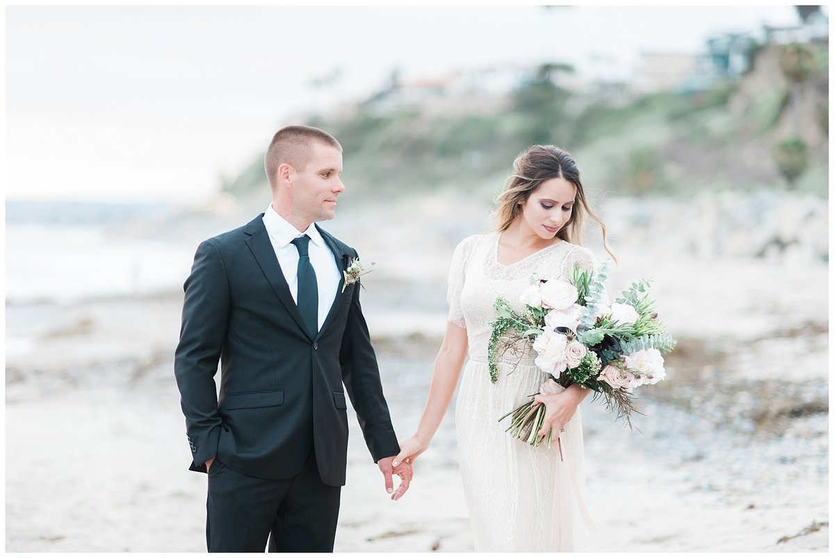 san clemente beach wedding elopement whimsical dreamy soft light socal photo039