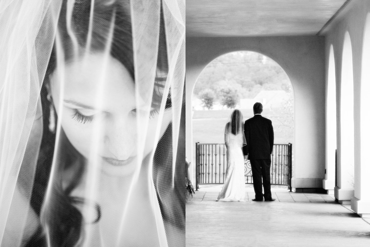 Bride's veil, bride and groom, Jennifer Baciocco Photography
