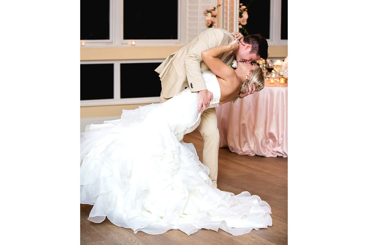 ritz carlton naples florida wedding bride and groom dip first dance