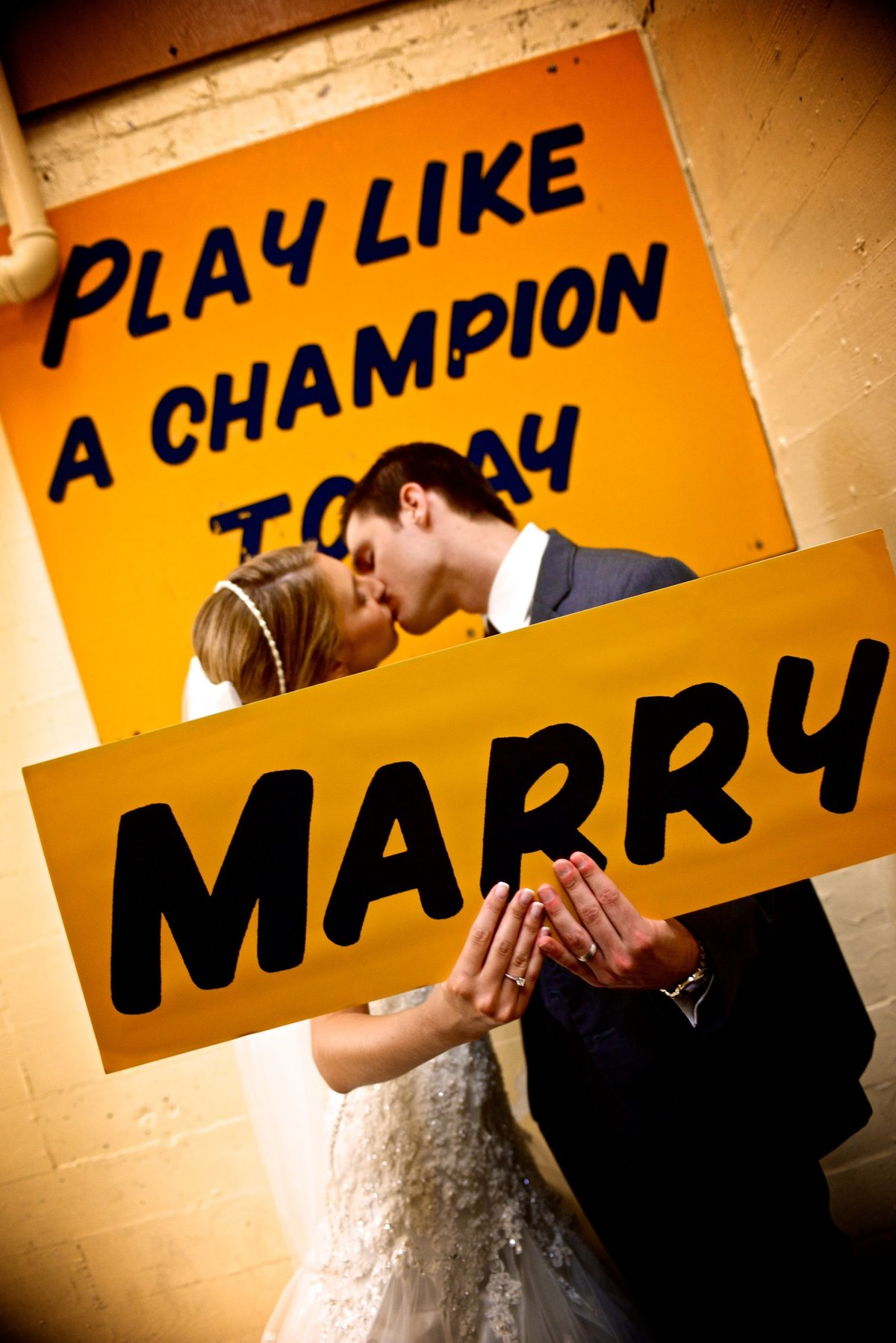 Marry Like a Champion Today, Notre Dame Stadium Locker Room