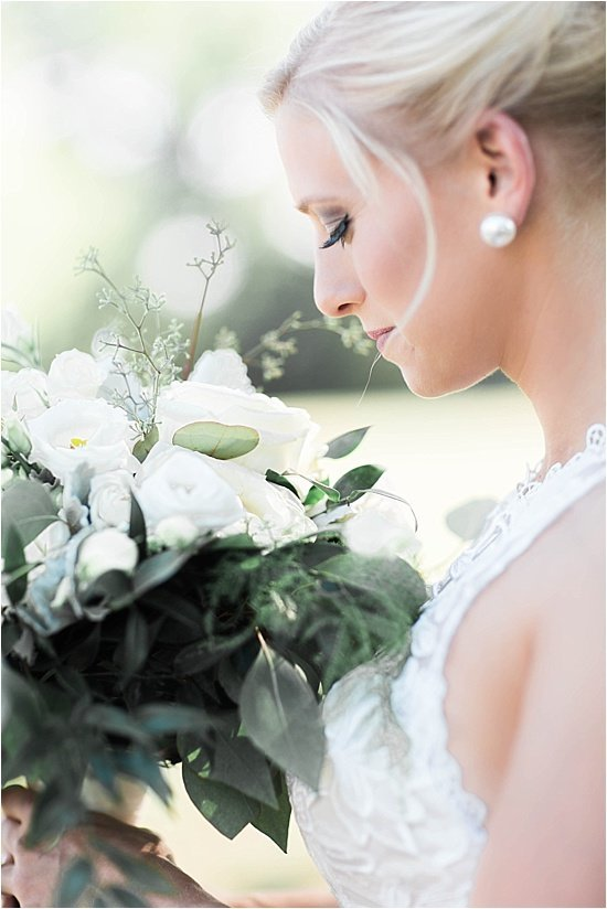 Greenery Wedding Bouquet White Flowers