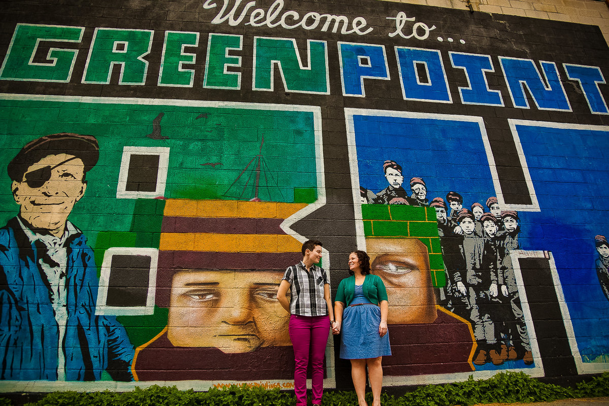 Brooklyn Wedding Photographer | Rob Allen Photography | Destination Wedding Photographer at Greenpoint Brooklyn  with couple holding hands