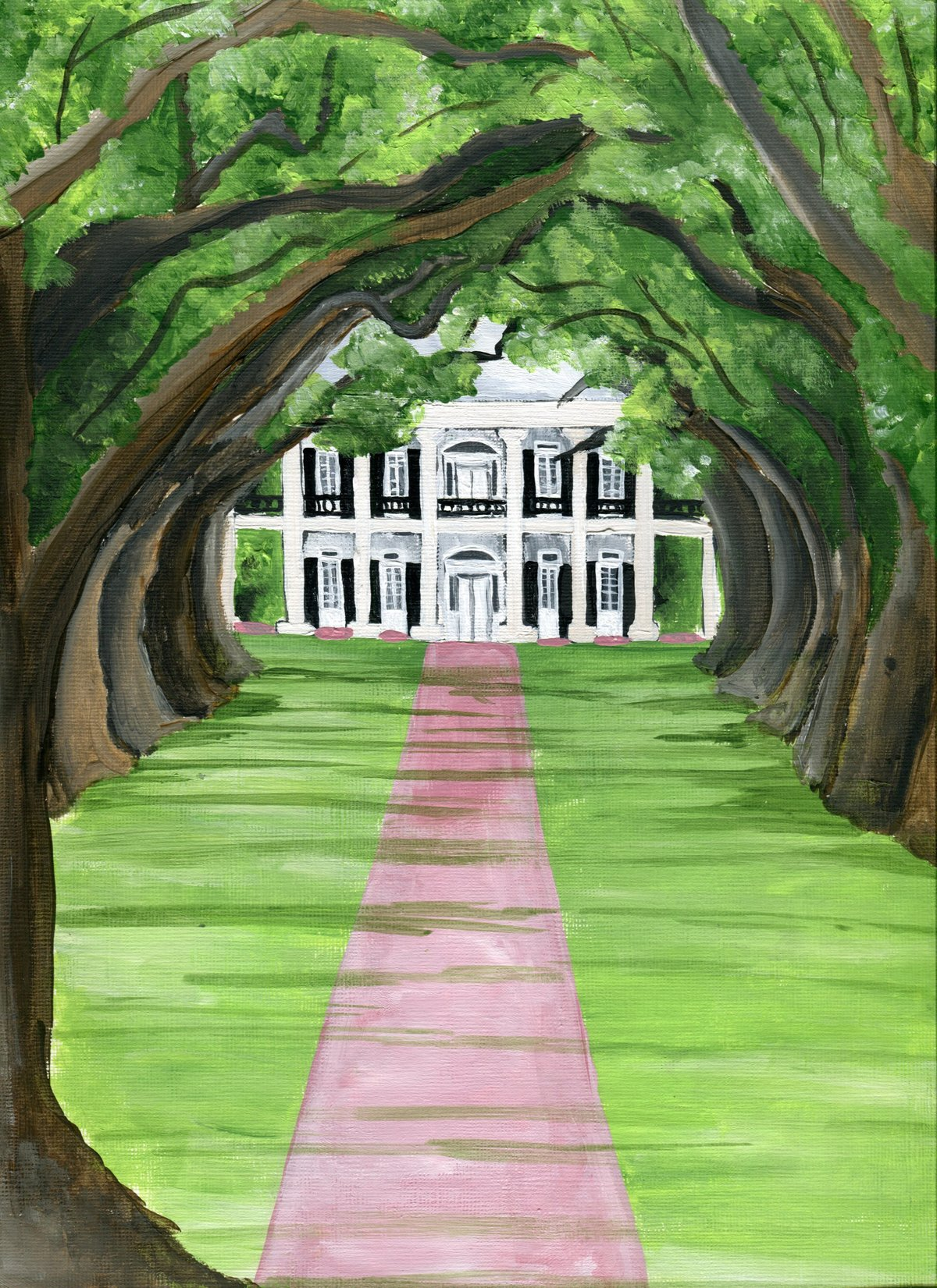 By Brittany Branson Oak Alley Plantation wedding venue painting