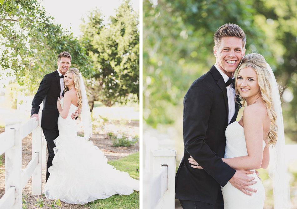 Bride and groom portraits at Orange County Wedding
