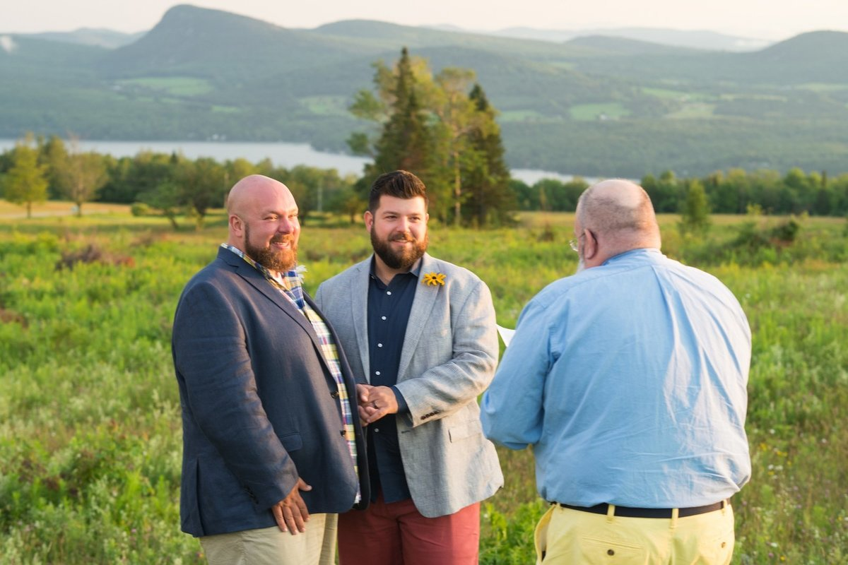 Same sex wedding photographer at Vermont by Lake Willoughby elopement 3