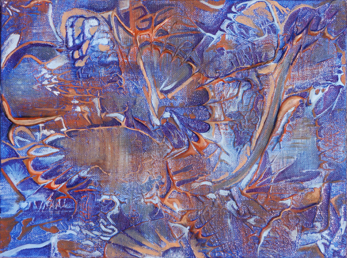 Danielle Zeigler - Blue and Orange Abstract - Spring 2003
