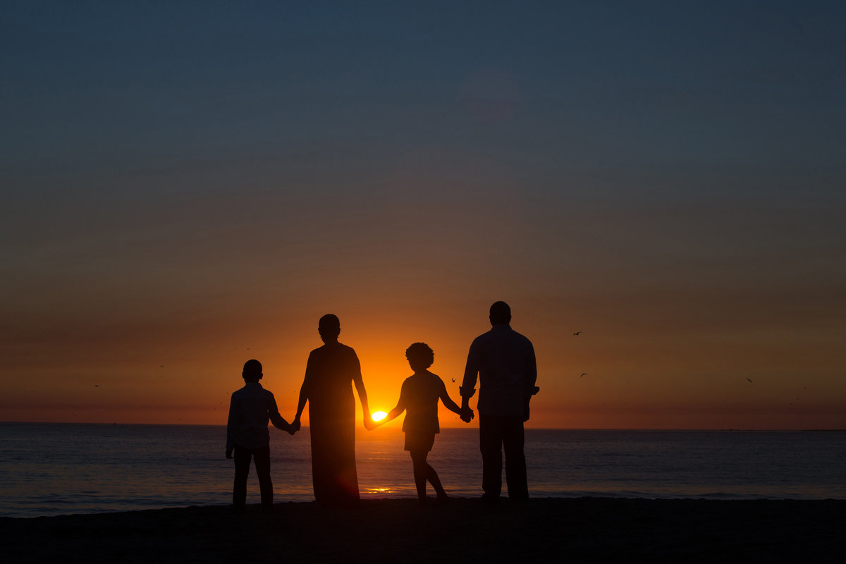 Half Moon Bay Family Photographer, Family Silhouette, Bay Area Family Photographer, Bay Area Kid Photographer, Jennifer Baciocco Photography