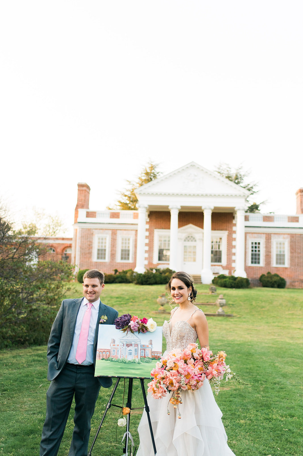Whitehall Annapolis Maryland Live Wedding Painting By Brittany Branson