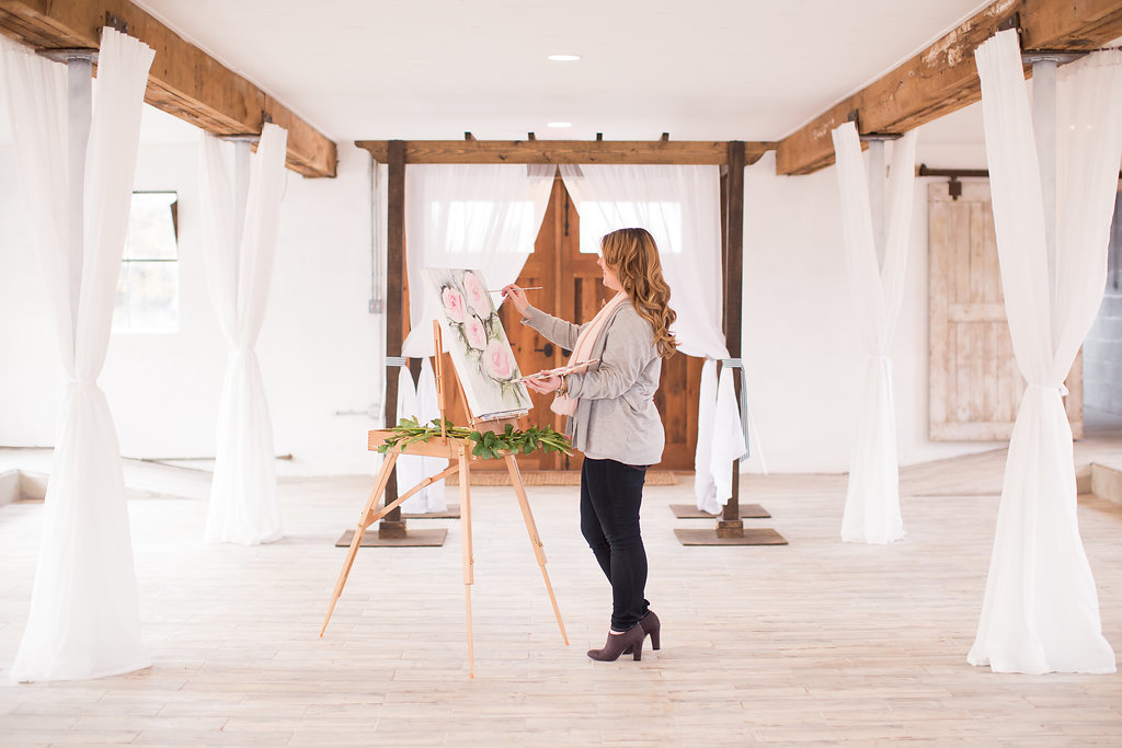 By Brittany Branson Live Wedding Painting