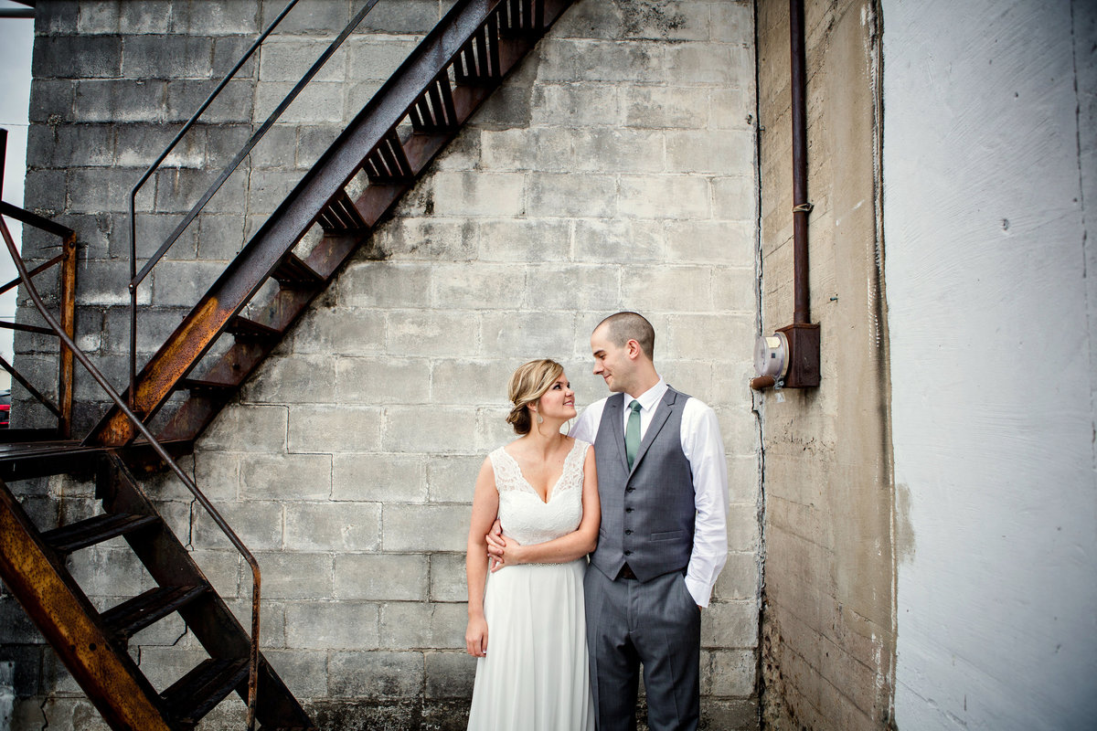 Bride and Groom portrait on their wedding day Knoxville Wedding Photographer, Amanda May Photos
