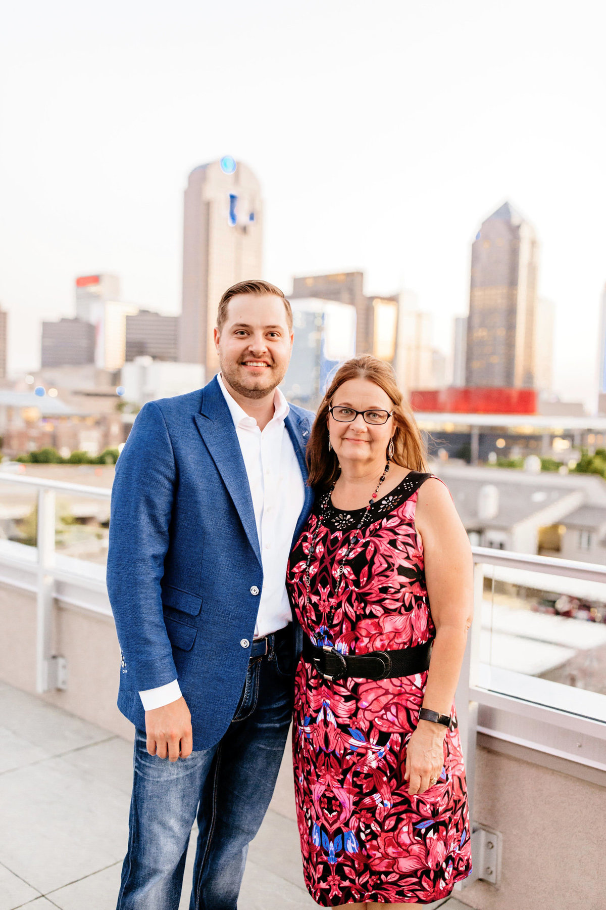 Eric & Megan - Downtown Dallas Rooftop Proposal & Engagement Session-247