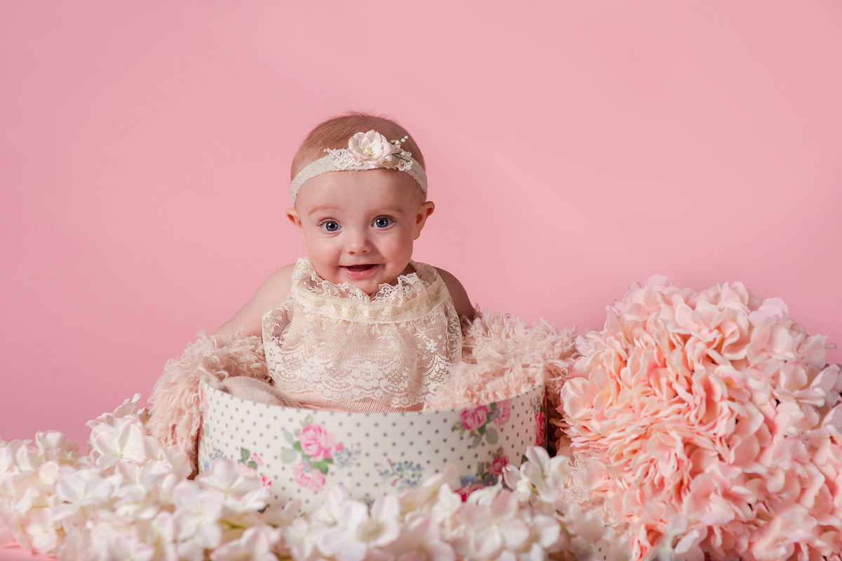 6 month old girly photoshoot