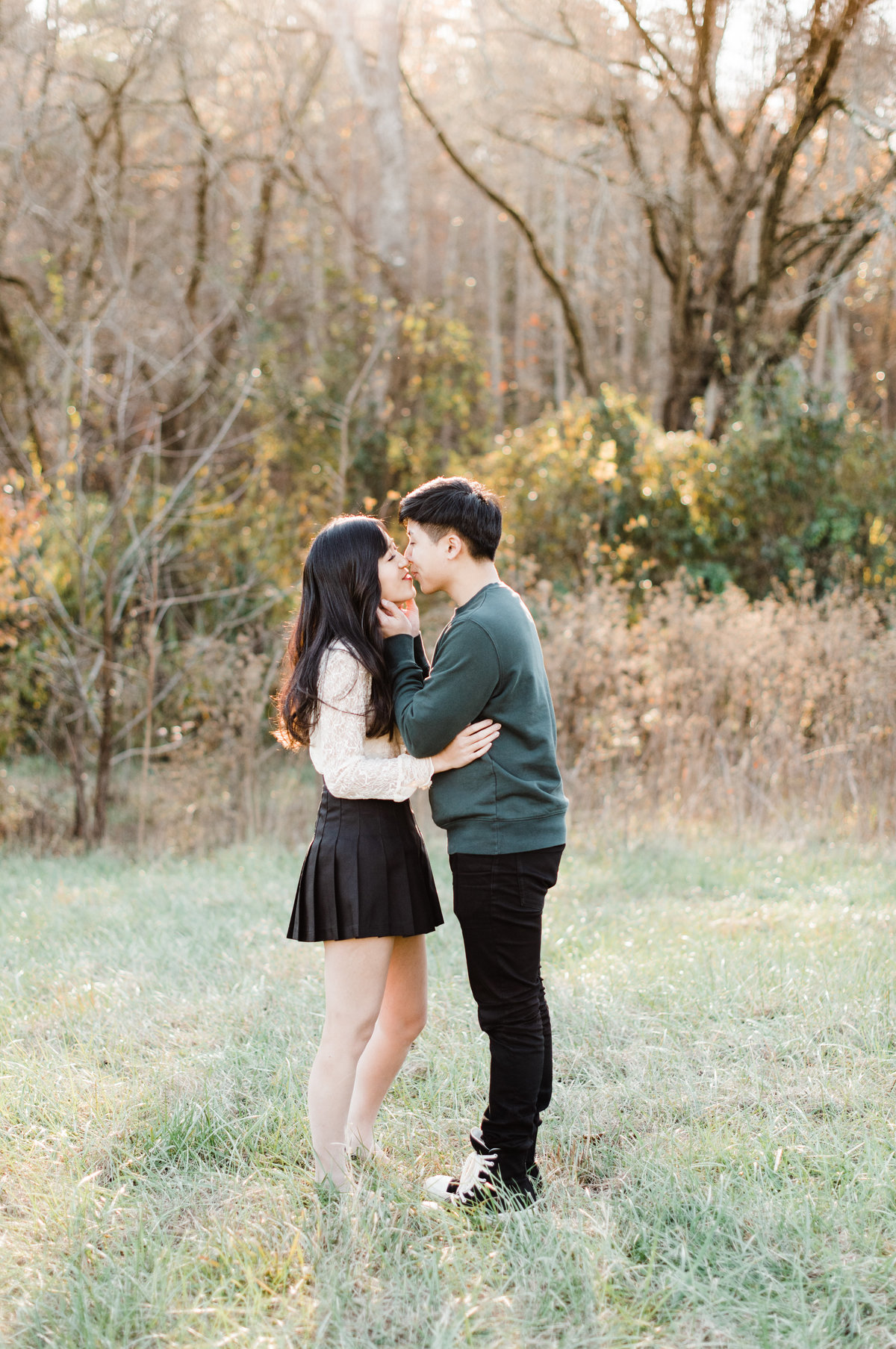 asheville fall engagement session photo