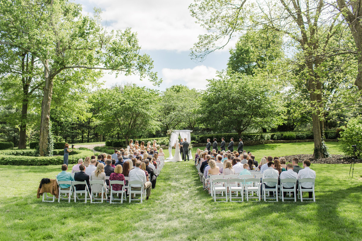 Wedding Ceremony at Haseltine Estate