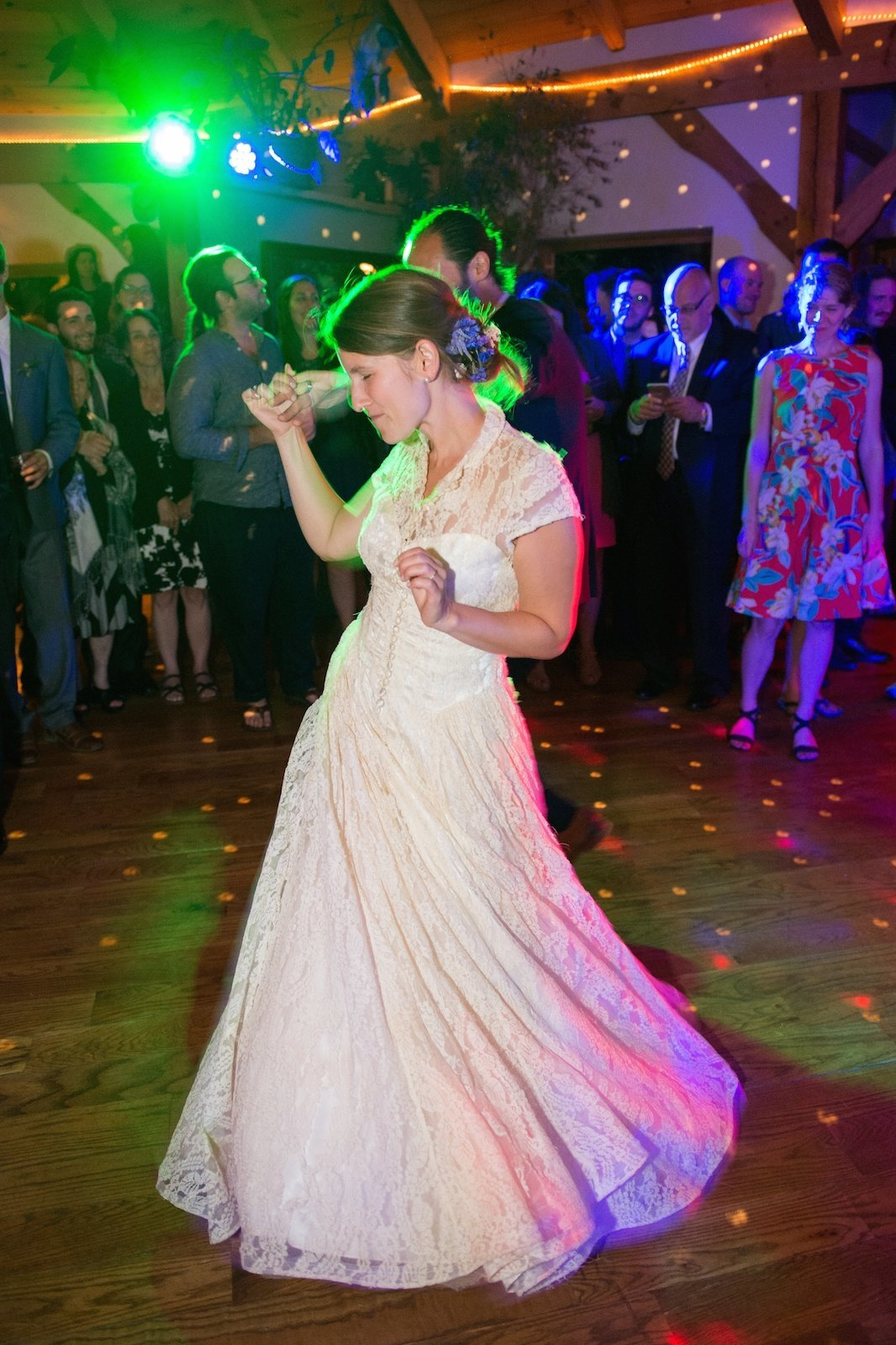 epic dance party photo at Vermont private residence wedding reception