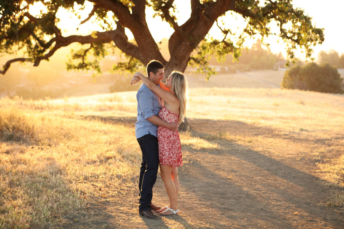 Engagement photoshoot los altos california  sunset portraits