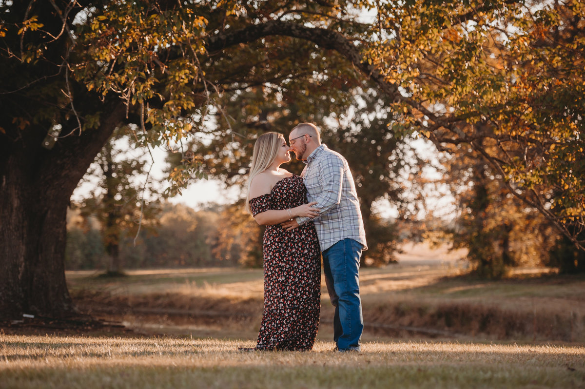 fall wedding photography engagement evansville