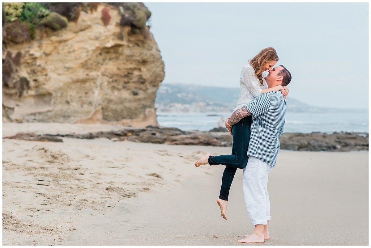 Laguna Beach Canyon Engagement Whimsical Wedding Photo025