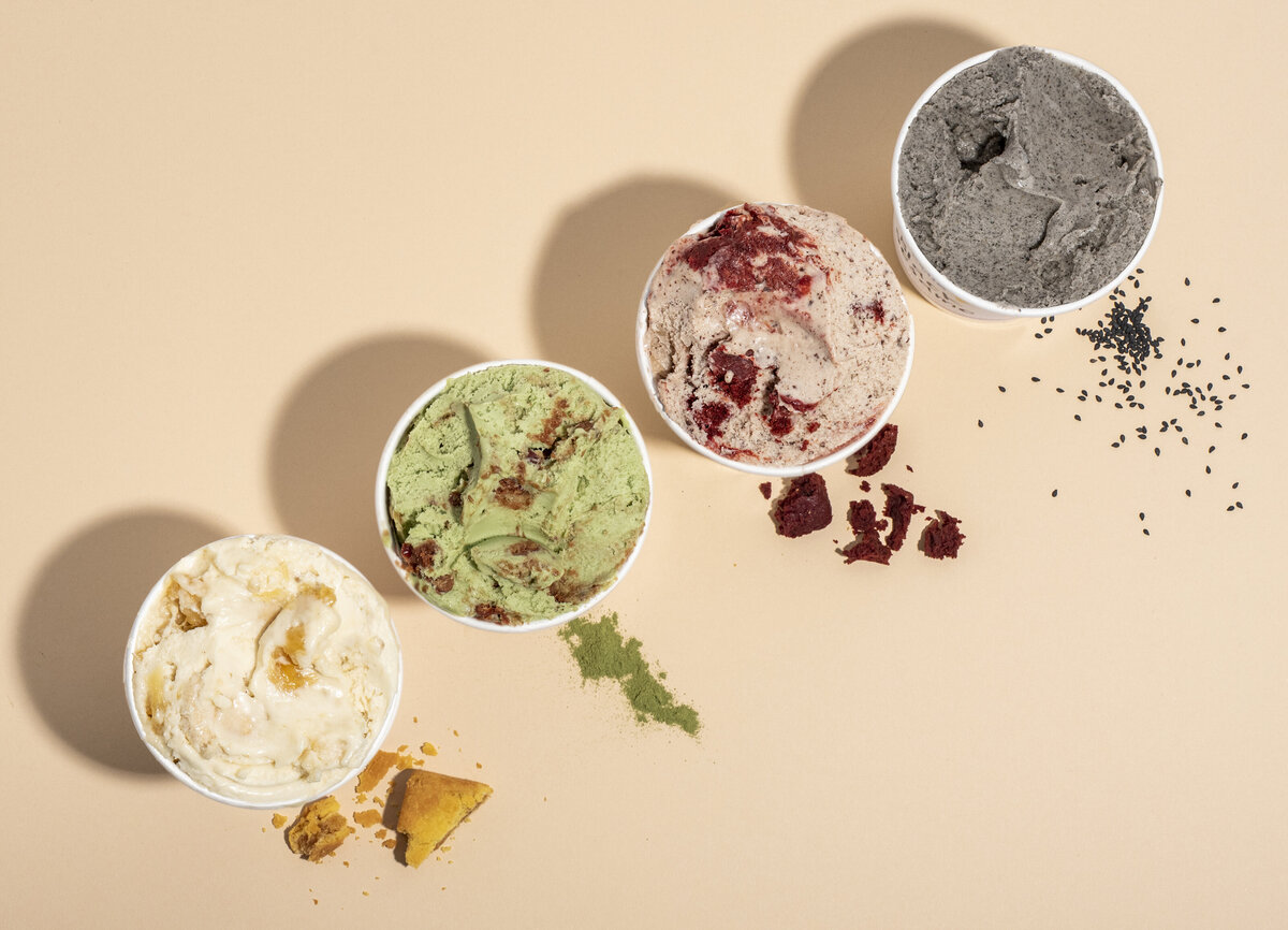 vegan ice cream flavors at cocobella creamery in hollywood
