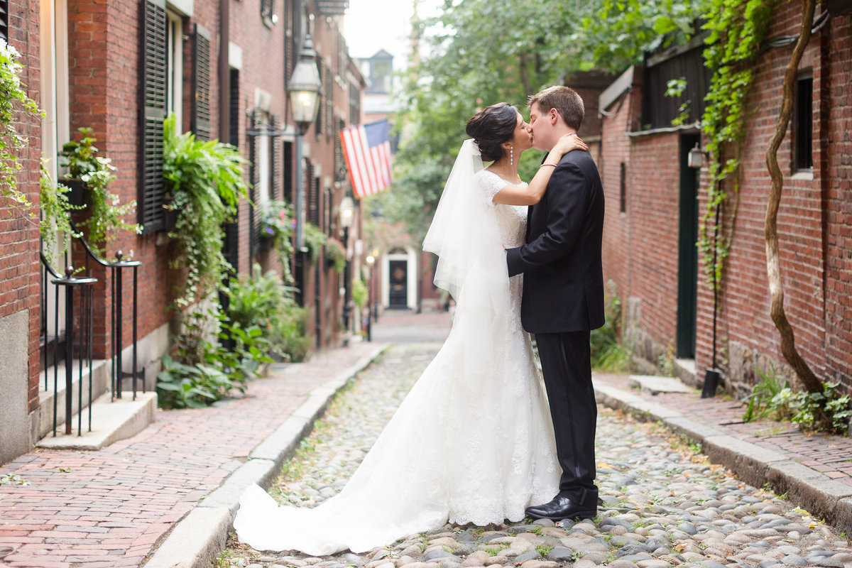 Acorn Street Beacon Hill Wedding Photo