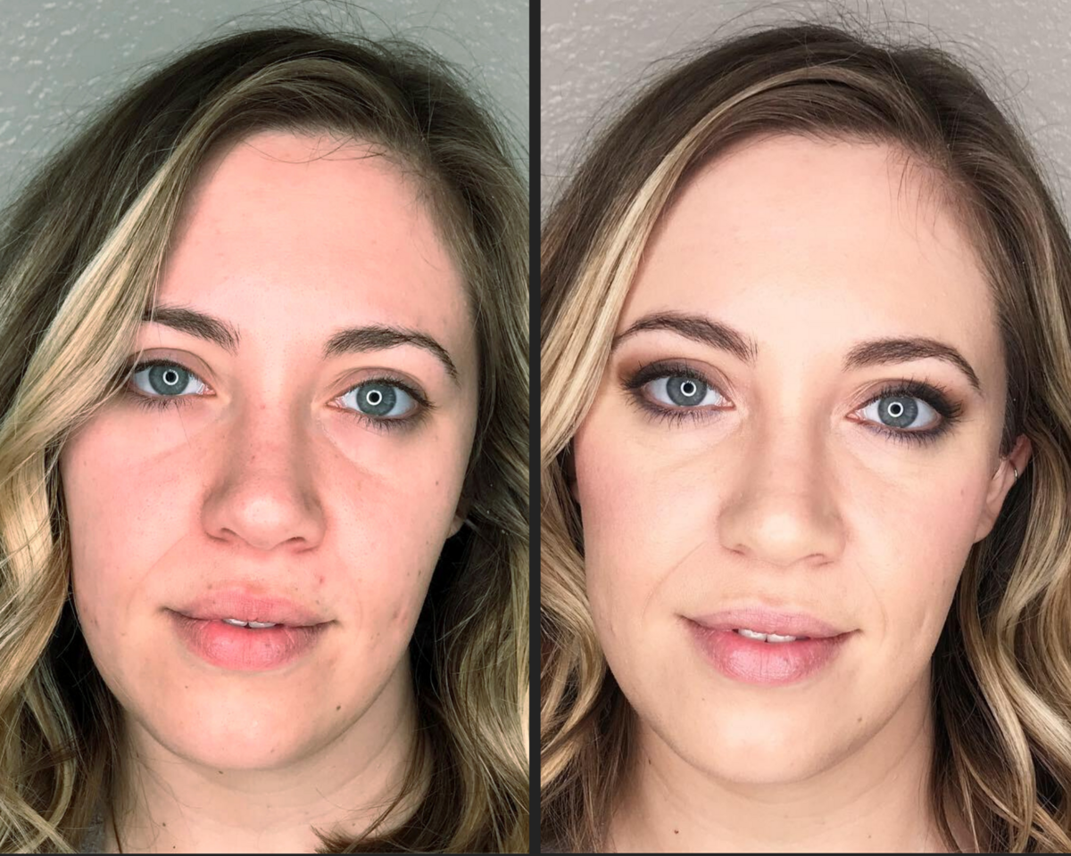 before and after makeup  - photoshoot