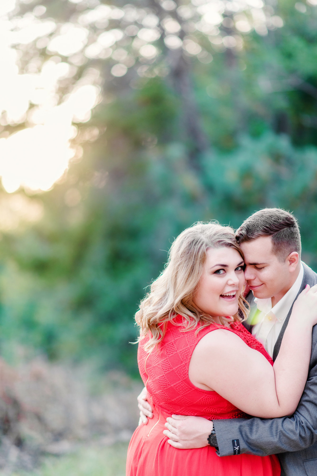 romantic engagement portrait photography in northern michigan