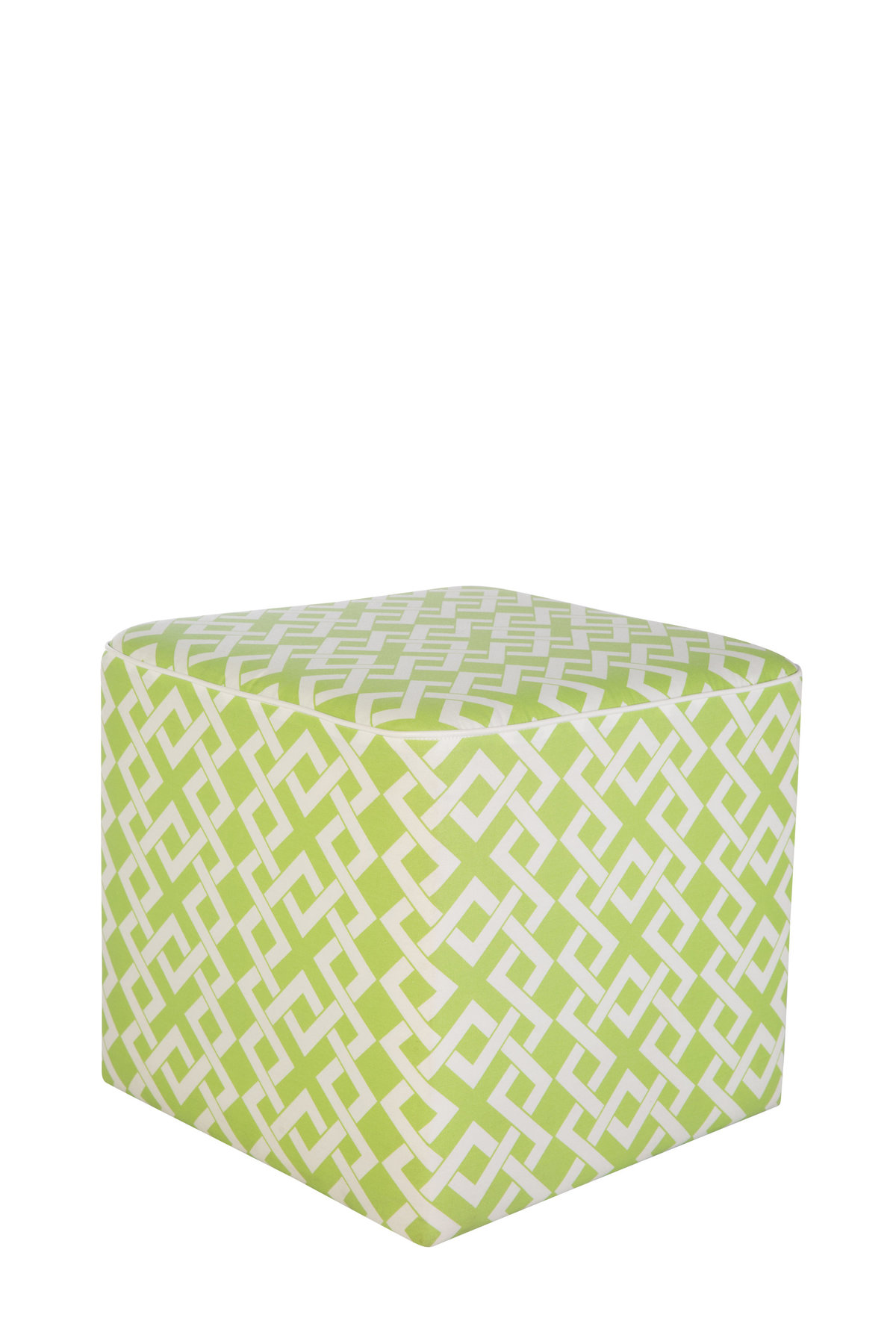 20'' x 20'' Lime Green Cube Ottoman