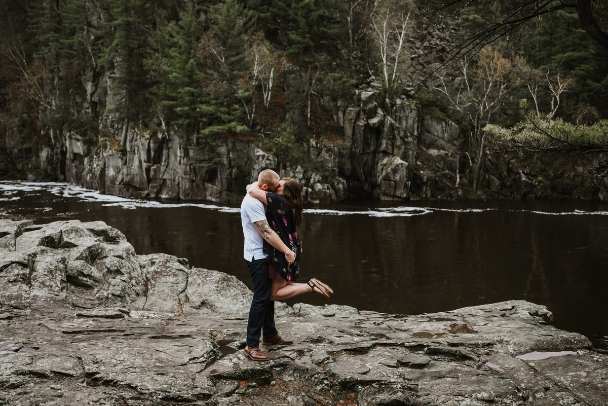Kayla + Mike beyond the pines photography