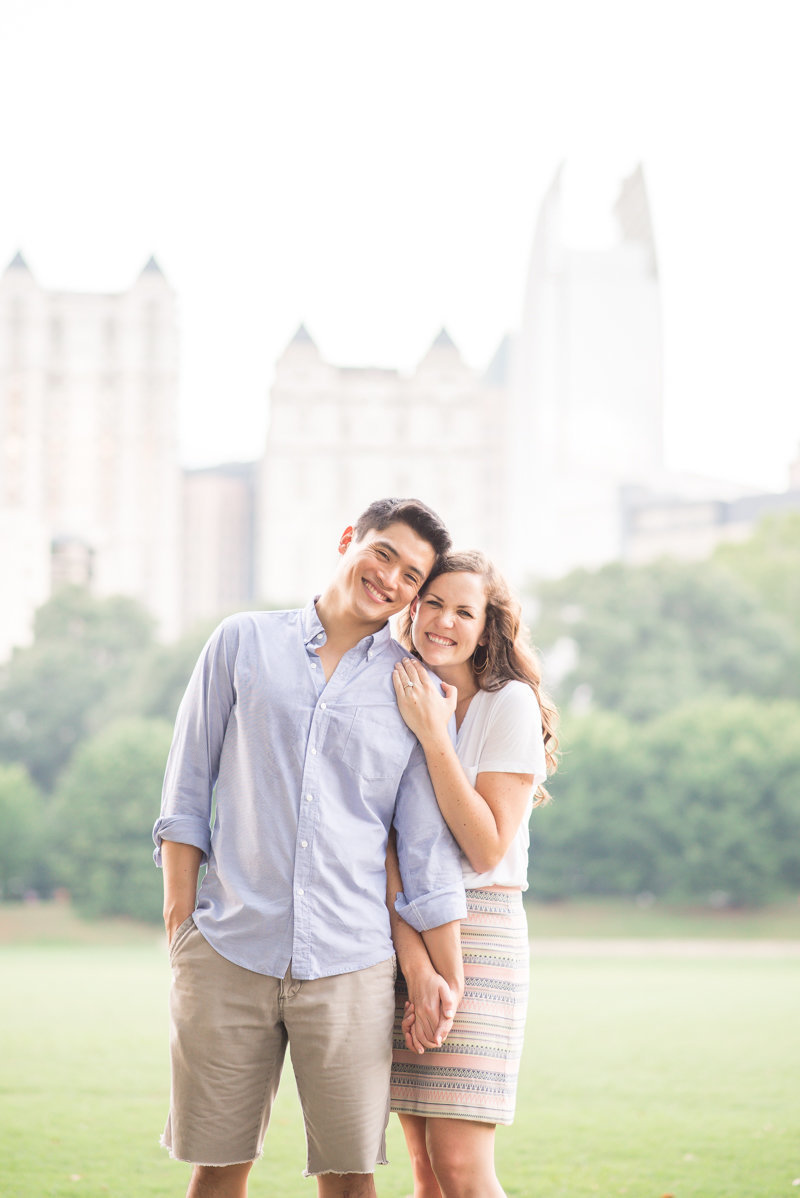 Atlanta Wedding Photographer Eliza Morrill engagement session at summerour studio, ponce city market, and piedmont park-33