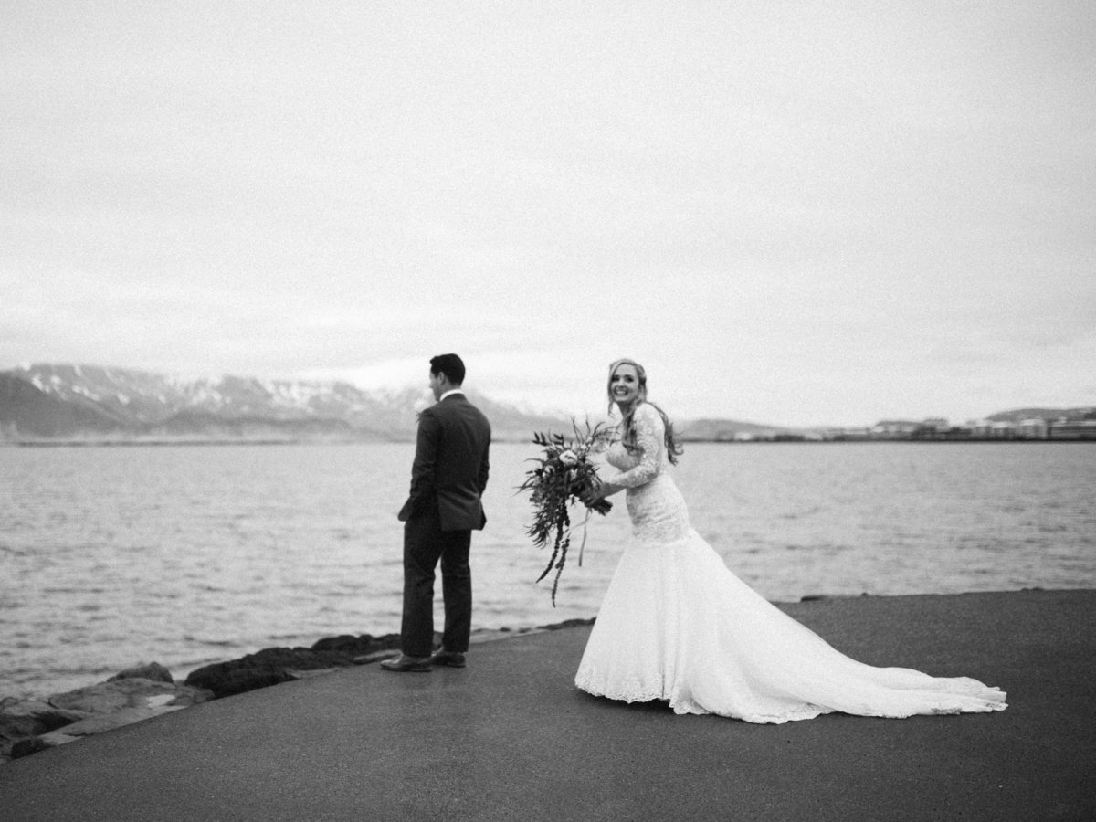 first look reykjavik iceland destination wedding elopement