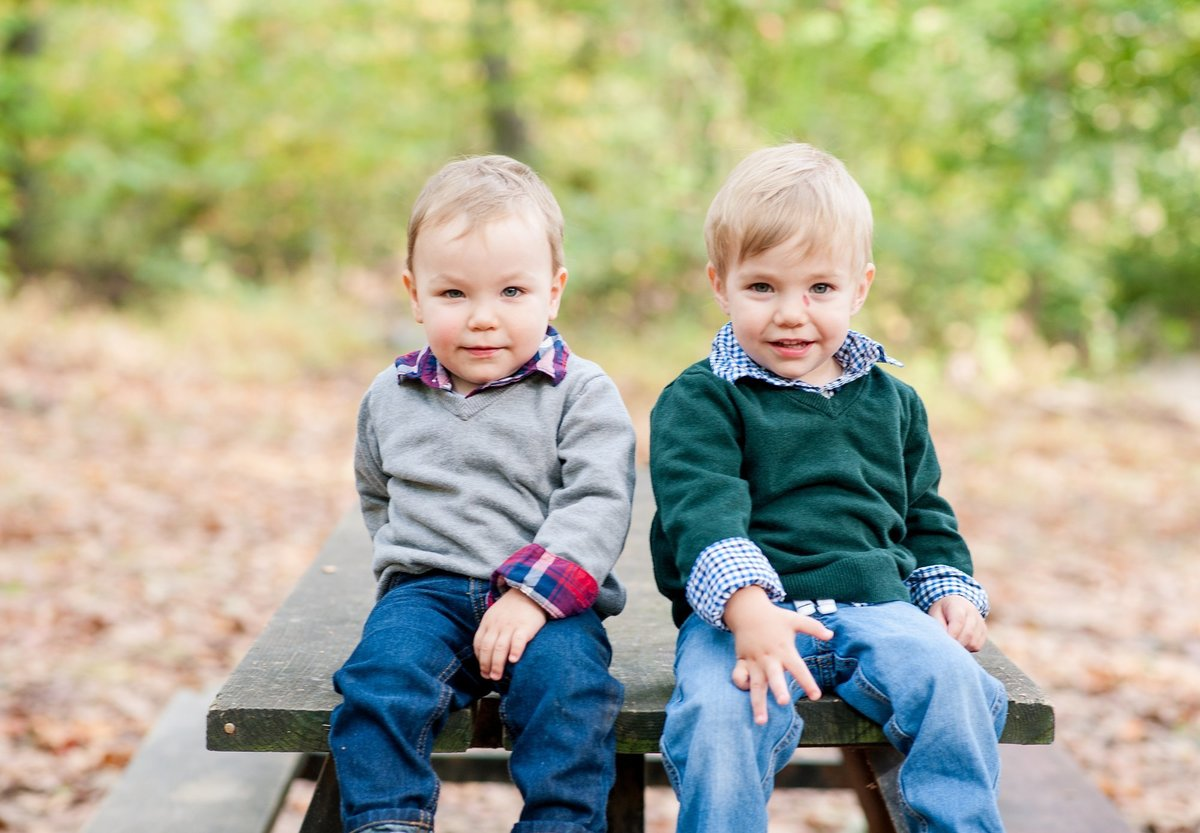 children's portrait session with twins