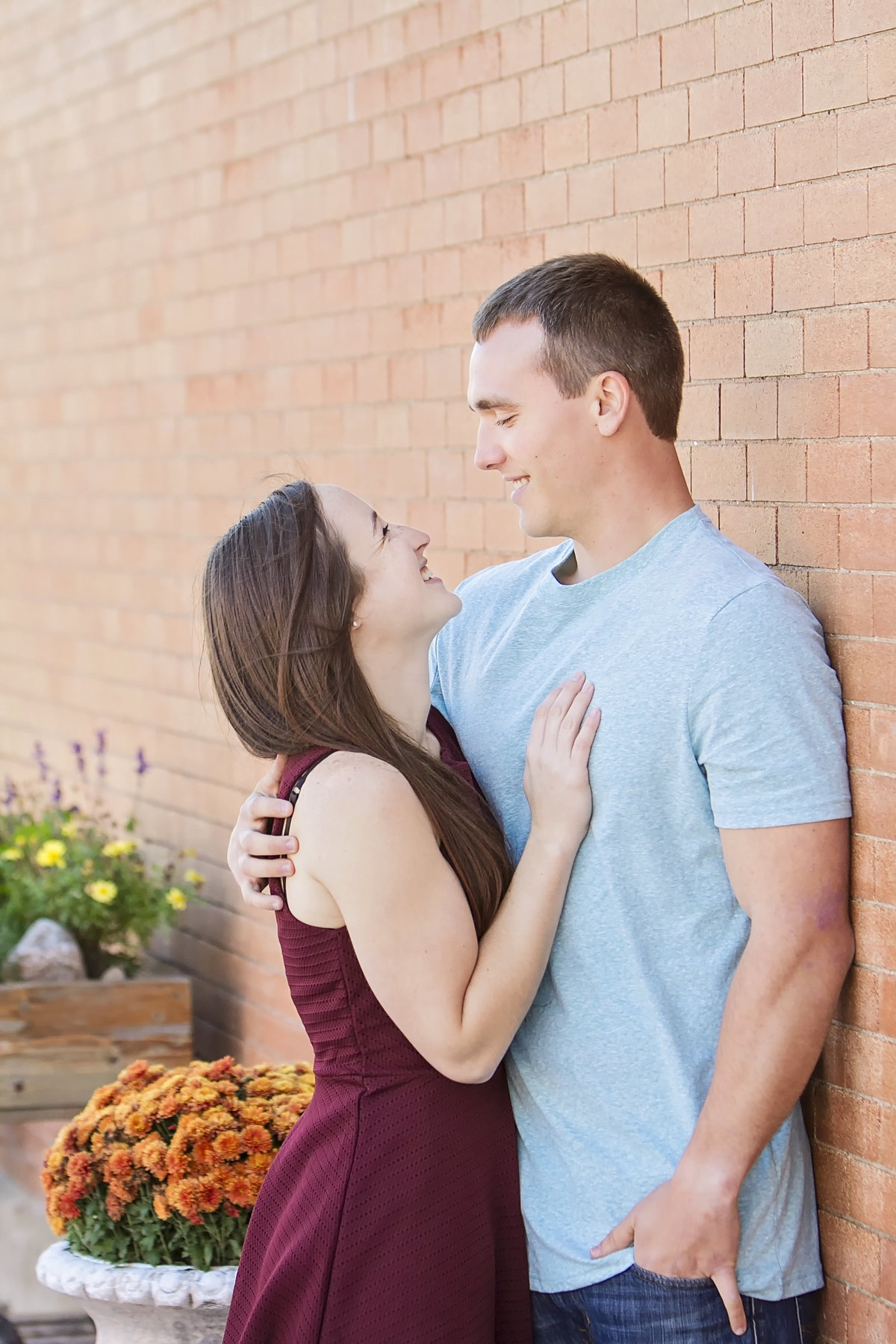 Urban Wausau engagement photos by Green Bay wedding photographer Casi Lea Photography