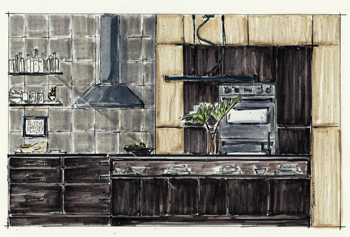 Modern Kitchen F.Project Elevation copy