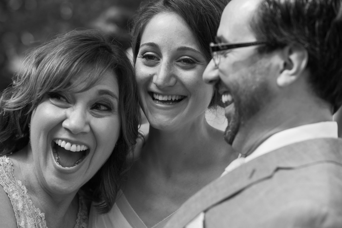 Brooklyn Wedding Photographer | Rob Allen Photography | Destination Wedding Photographer at Mt. Sinai New York bride, groom and grooms mom laughing