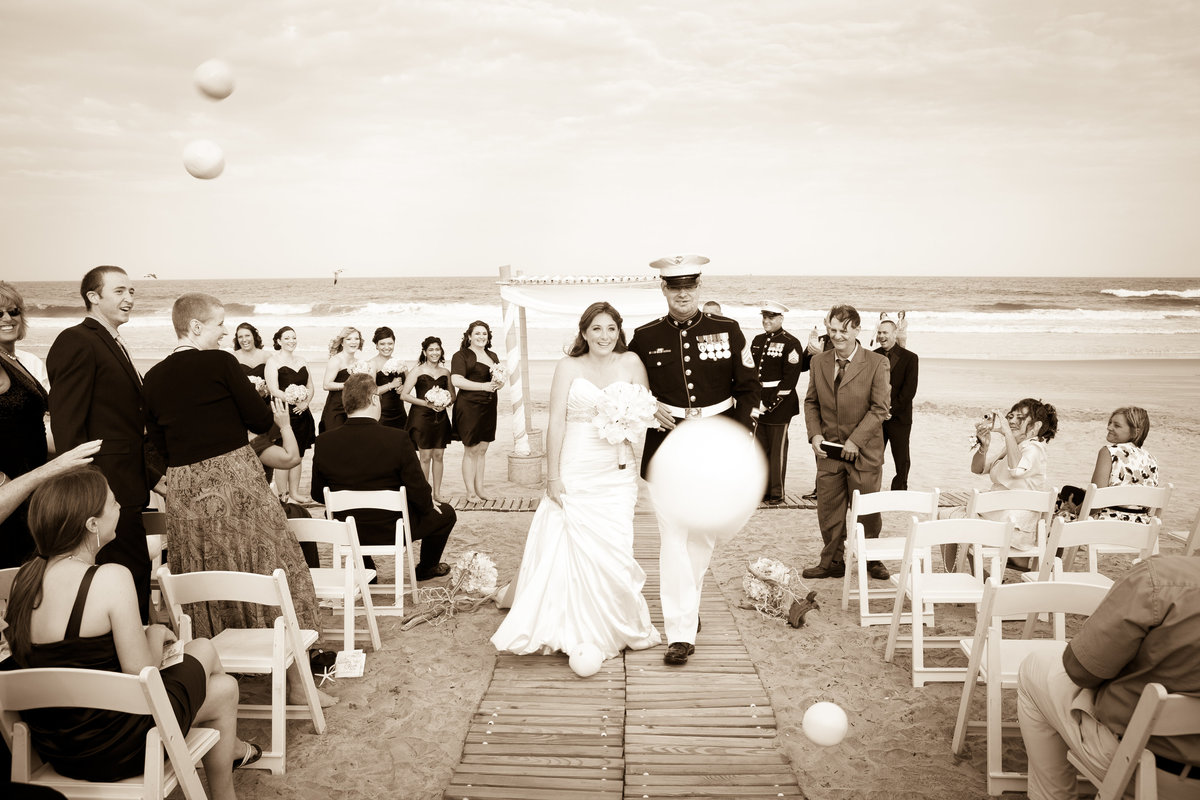 New Jersey Shore Beach Wedding Carriage House 12