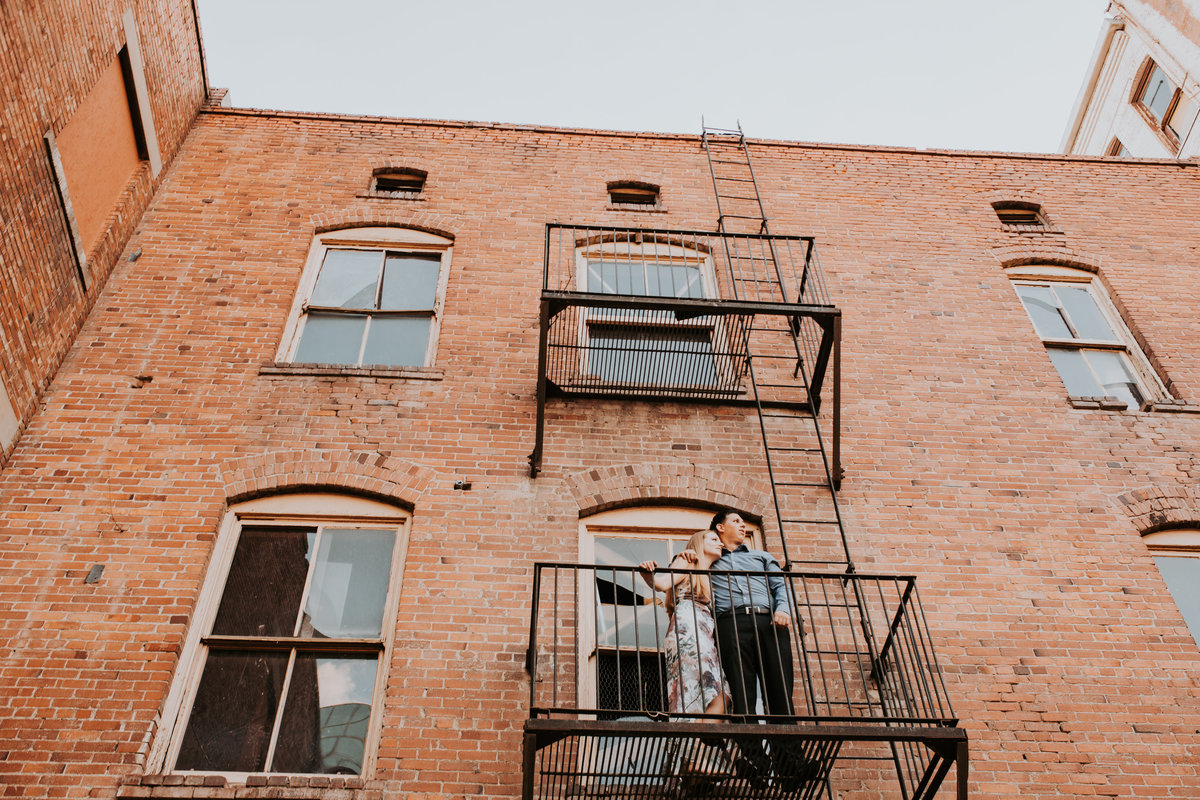 Downtown El Paso Texas Plaza Engagement Couple Bride and Groom Wedding Life In Tandem Photography-14