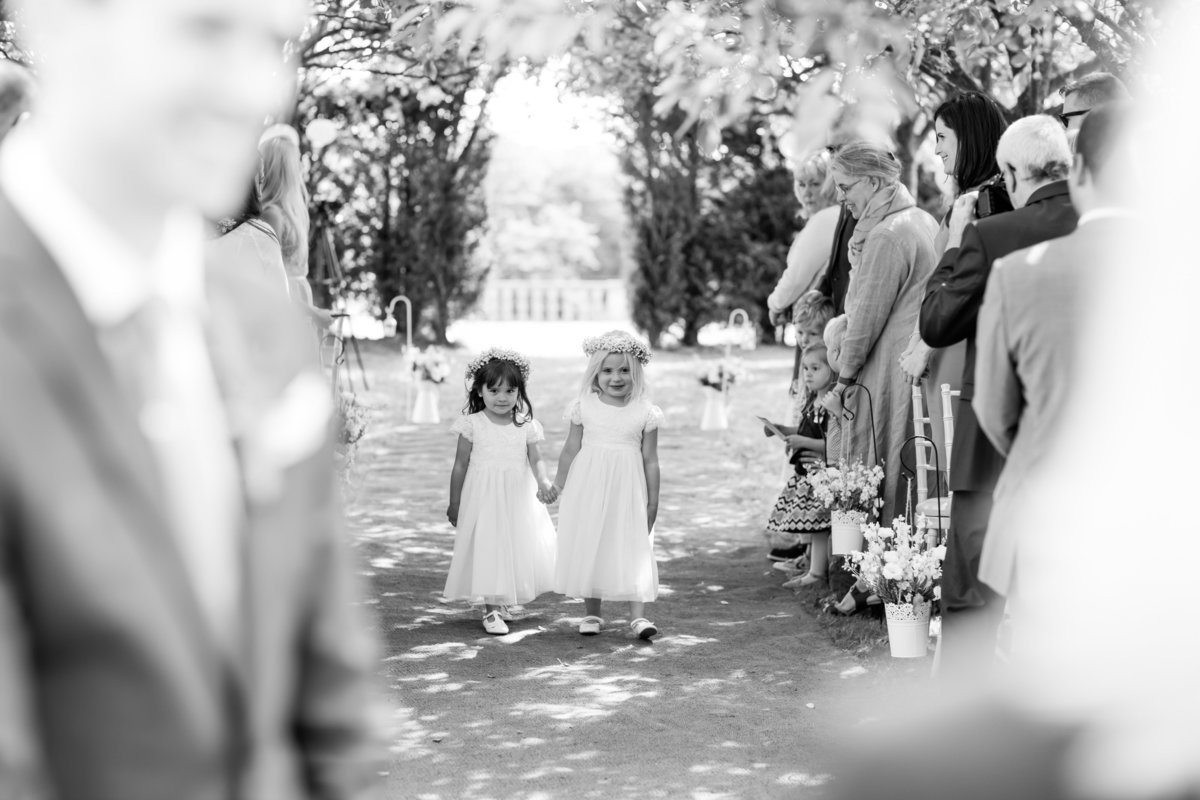 flower girls at rockbere manor wedding
