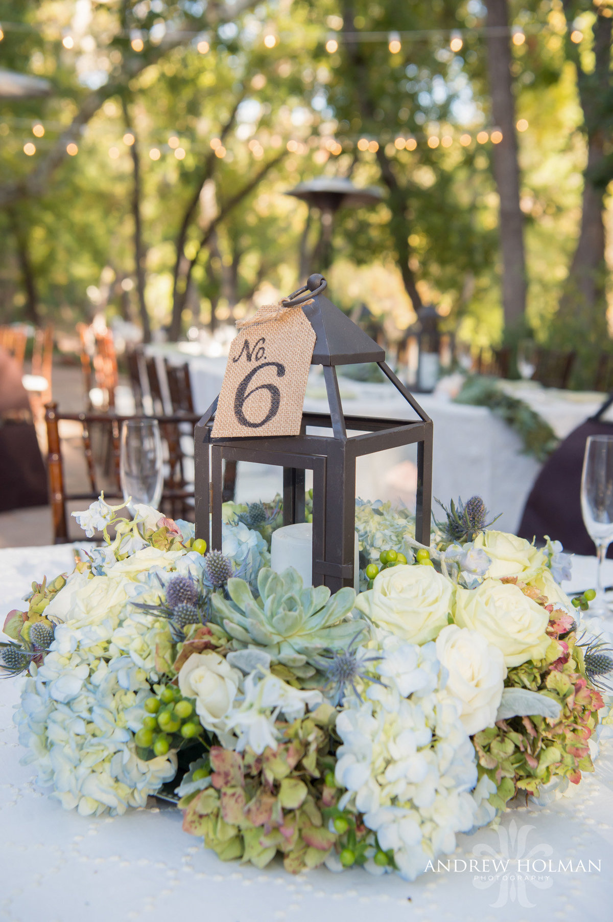 sedona flagstaff wedding florist lauberge blue green lanterns